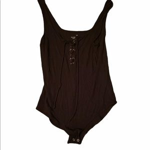 American Eagle Outfitters Cross Tie Body Suit